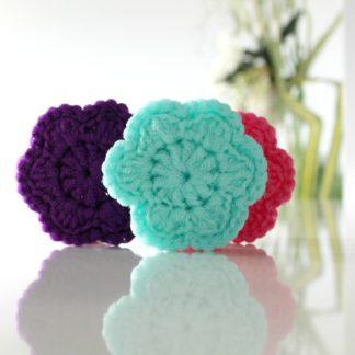 flower scouring pad scrubbie scrubby reusable la capitaine crochete