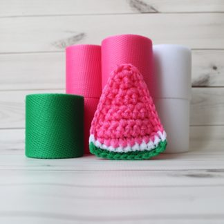 la capitaine crochète diy kit scouring pads watermelon triangle slice candy