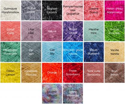 la capitaine crochète charte de couleurs scrubby creative bubble éponges exfoliantes
