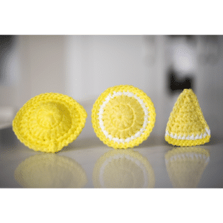 scrubbie scrubby scouring reusable lemon la capitaine crochète whole fruit slice triangle round