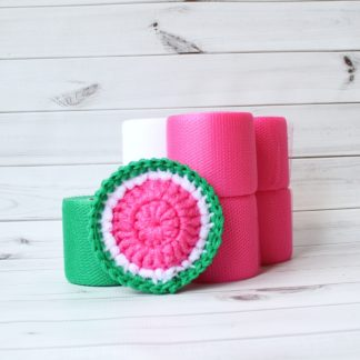 la capitaine crochète diy kit watermelon scouring pad round slice candy