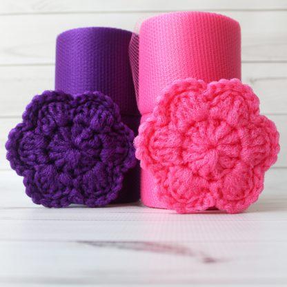 la capitaine crochète ensemble créatifs crochet tampons à récurer fleur bonbon violet
