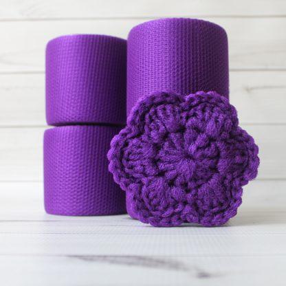 la capitaine crochète ensemble créatifs crochet tampons à récurer fleur violet