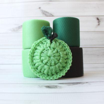 la capitaine crochète ensemble créatifs crochet tampons à récurer pomme verte