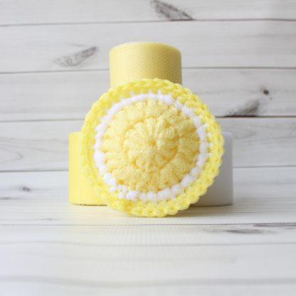 la capitaine crochète ensemble créatif tampons à récurer à crocheter tranche agrumes ronde citron