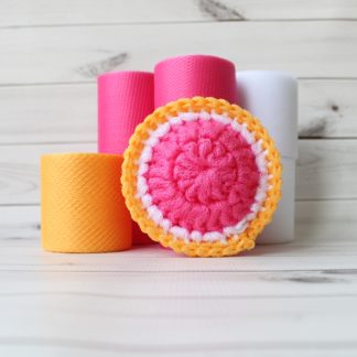 la capitaine crochète diy kit scouring pads citrus grapefruit round slice