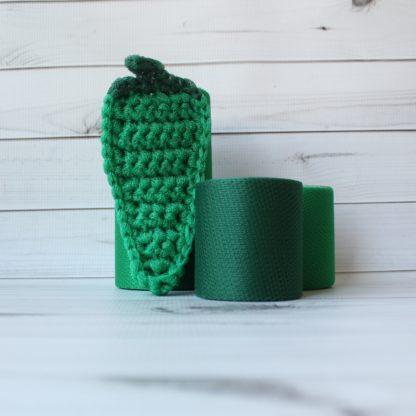 la capitaine crochète ensemble créatifs crochet tampons à récurer piment irlandais vert