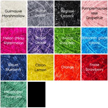 la capitaine crochète charte de couleurs scrubby sparkle éponges exfoliantes