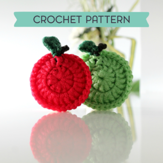la capitaine crochète crochet pattern scouring pad scrubbies acrubby scrubber apple