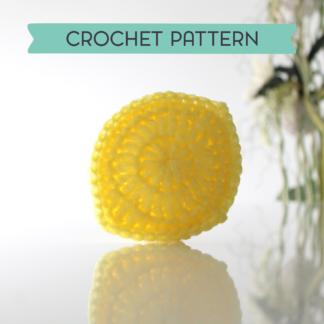la capitaine crochète crochet pattern scouring pad scrubbies acrubby scrubber lemon