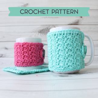 la capitaine crochète crochet pattern coaster mug cozy cotton