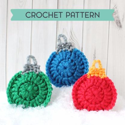 la capitaine crochète crochet pattern scouring pad scrubbies scrubby scrubber christmas ornament