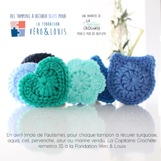 véro and louis foundation blue scouring pads