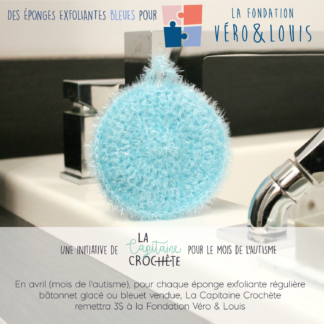 véro louis foundation blue exfoliating sponges