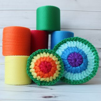 la capitaine crochete diy kits scouring pad rainbow